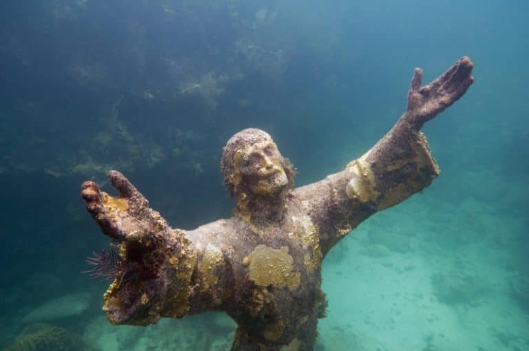 christ-of-the-abyss-underwater-statue-keys-suvs-private-transportation